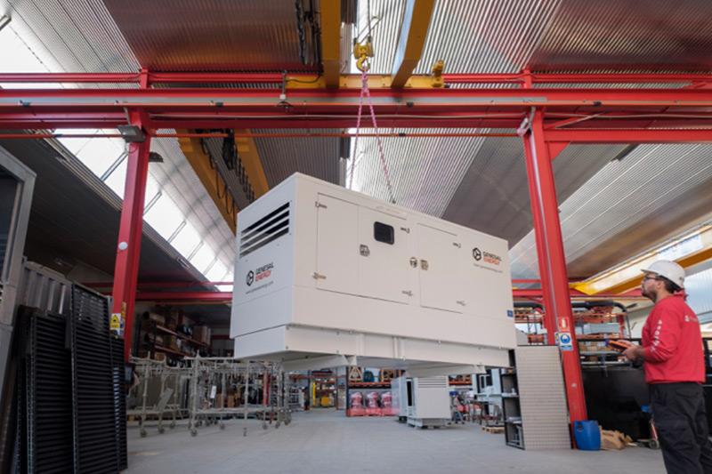 Fase de transporte de planta eléctrica Genesal Energy México