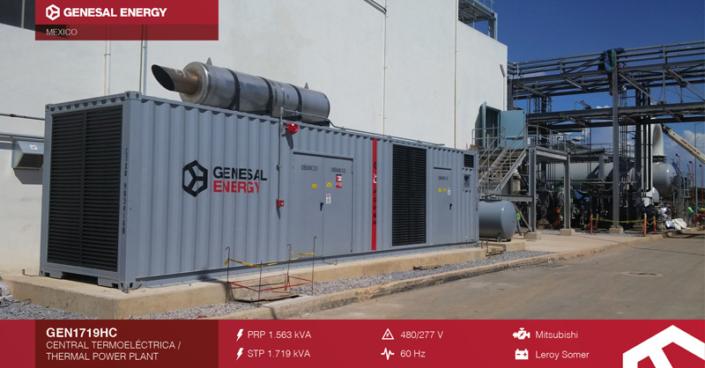 Caso de éxito - Planta de cogeneración de ciclo combinado Genesal Energy México