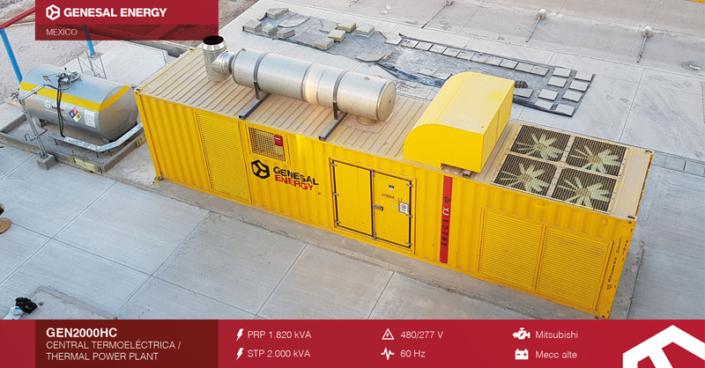 Caso de éxito Genesal Energy México - Grupo de Emergencia para la central de ciclo combinado Empalme II