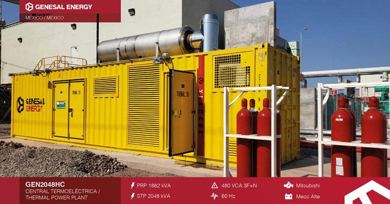 Planta eléctrica Genesal Energy México - Caso de éxito central de ciclo combinado Topolobampo