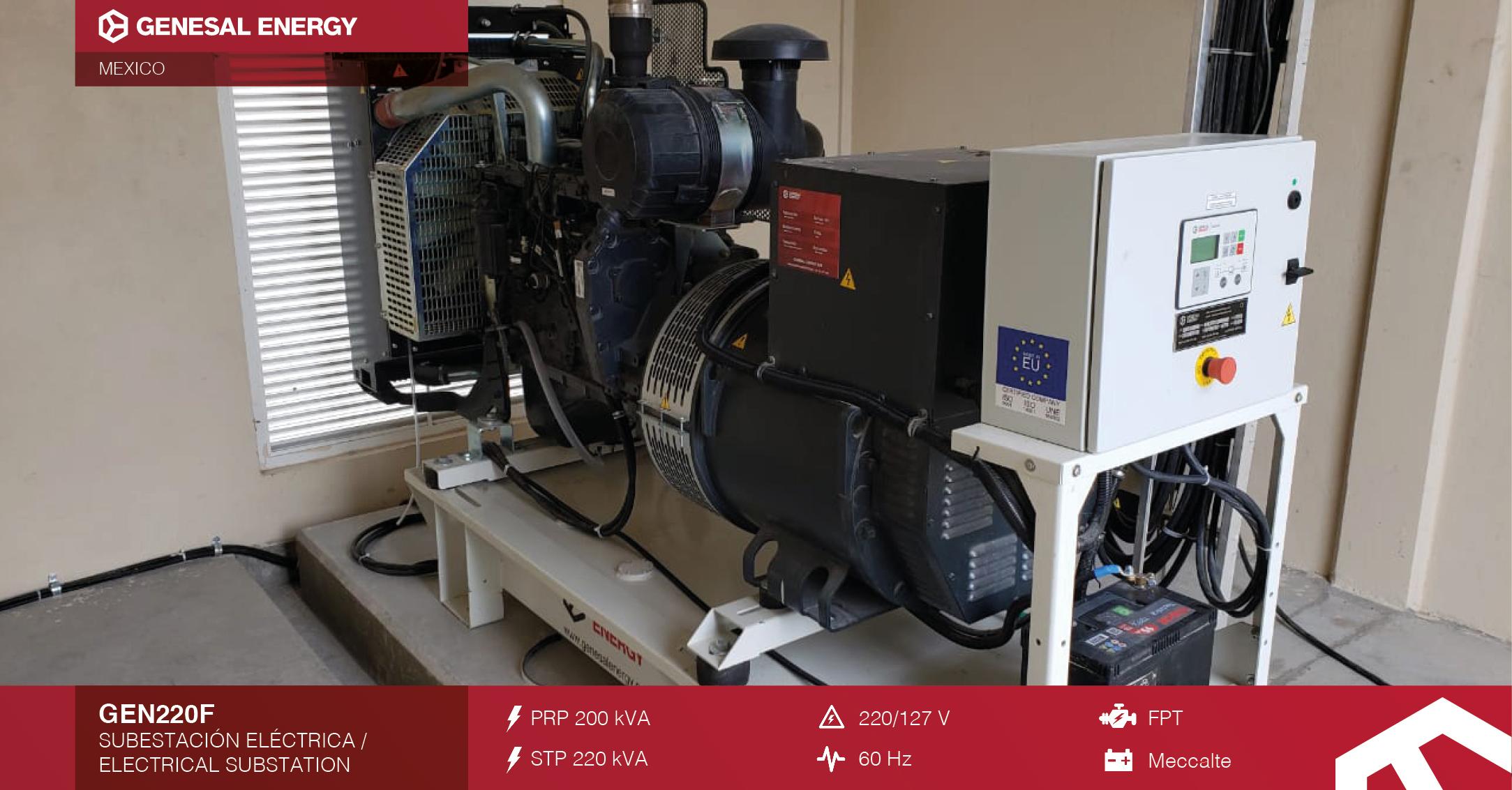 Planta eléctrica Genesal Energy México - Fábrica Toyota en Guanajuato